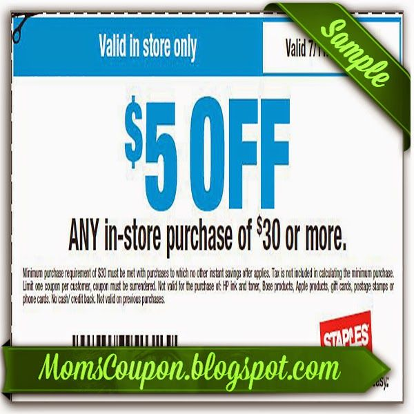 Coupons for staples canada online