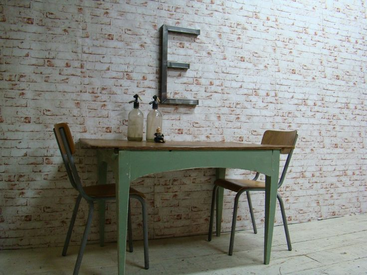 Grenen Franse vintage tafel.