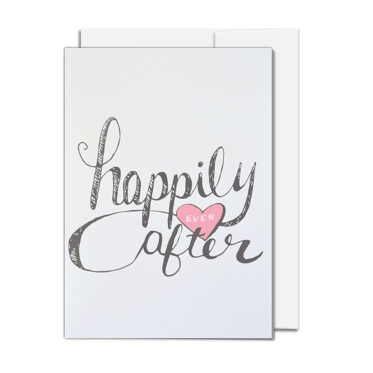 Wedding Card, Engagement Card, Bridal shower gift, wedding gift, Happily Ever After by AMTaylorArt on Etsy https://www.etsy.com/ca/listing/398137769/wedding-card-engagement-card-bridal