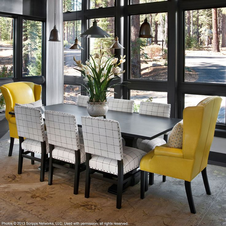HGTV Dream Home 2014 Dining Room Modern Mountain Style