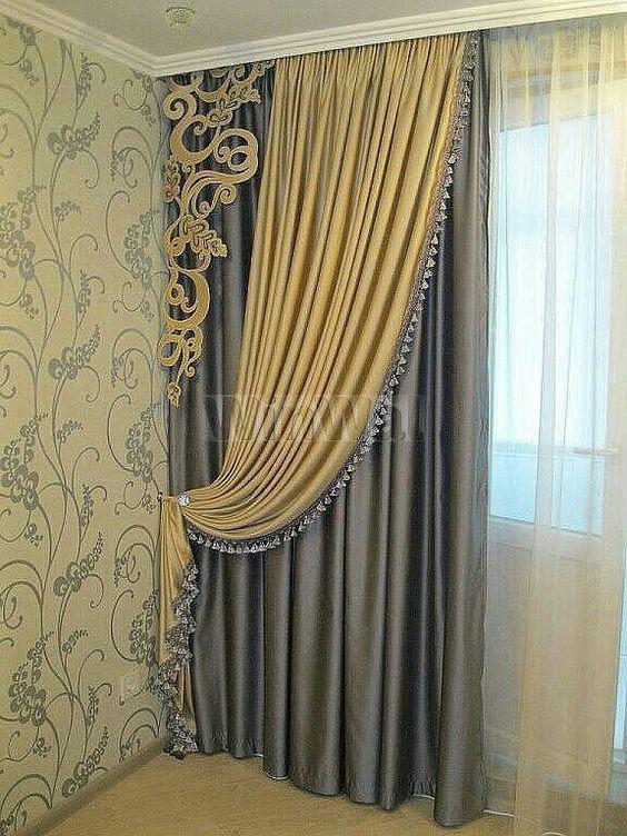 Ассиметричные шторы - фото в интерьере. Заказать дизайн и пошив штор на кухню, в спальню, в гостиную, в детскую - WinWal