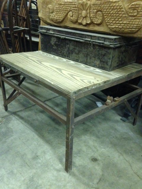 Industrial Occasional Table: Available For Purchase At Uncommon Market  Dallas, 100 Riveredge Drive,
