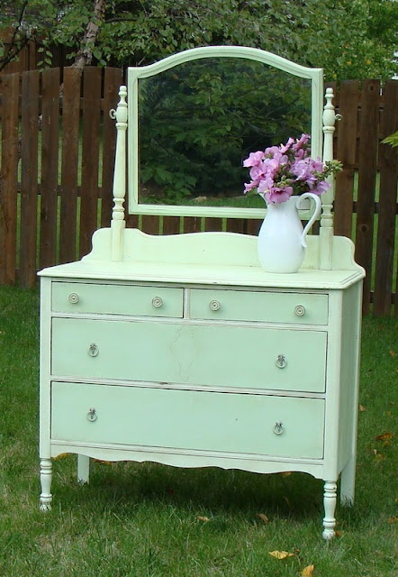 Beautifully revived dresser shared at the Knick of Time Tuesday party