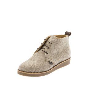 Women's Flat Shoes Light Grey-- Wool Felt shoes