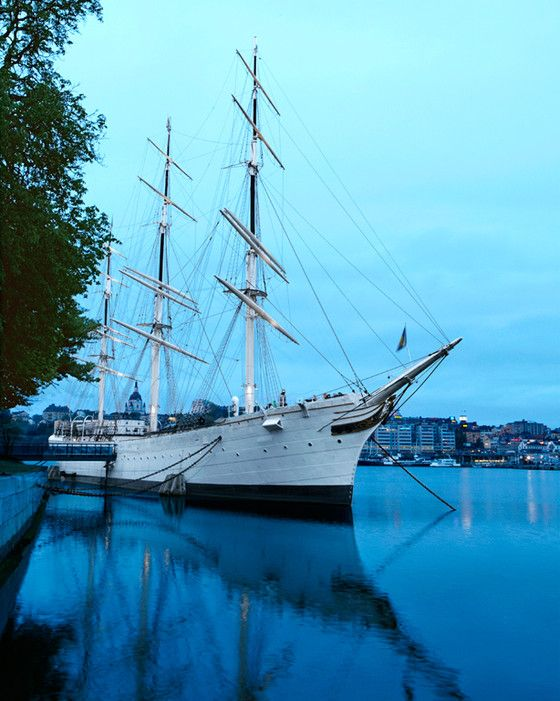 More than 30 percent of Stockholm is made up of waterways. The Af Chapman, launched in 1888, is now a youth hostel off Skeppsholmen.