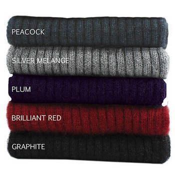 New Zealand Merinomink Merino Wool & Possum Fur Rib Scarf