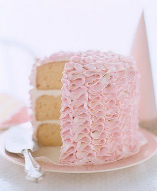 Ruffle Cake- I made this for my daughter's welcoming party and I was pleasantly surprised with how easy it was to make