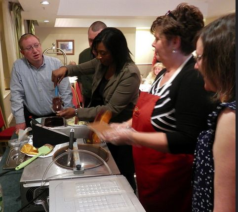Action shot from the Team building Event at Marriott, Hollins Hill Hotel.