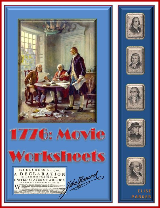 3 Different Worksheets for use with the movie musical, 1776, which vividly illustrates the drafting, debates, and passage of the Declaration of Independence. With these 1776 Movie Worksheets, students can be separately quizzed on the beginning, middle, and end of the movie. Includes full answer keys!