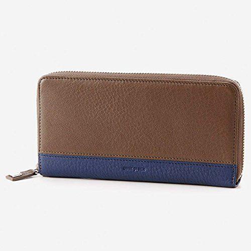 コムサ メン(COMME CA MEN) 財布(カイル ラウンド長財布)【ブラウン×ネイビー/1サイズ】