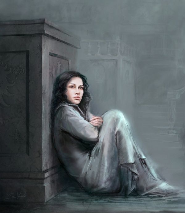A desolate loneliness touched the farthest reaches of her soul / Digital Painting by Sonia Verdu: