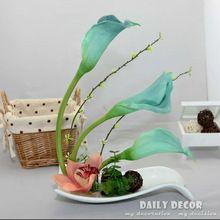 2015 új PU Calla liliom mesterséges virágdíszek flores artificiais arranjos ikebana a kerámia cserepek ruha nagykereskedelem (Kína (szárazföld))
