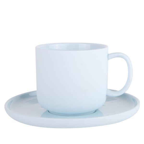 Emerson Teacup & Saucer 200ml - Ice Blue