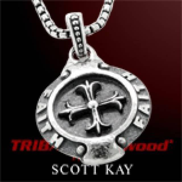 70dca6d18 FAITH MEDALLION SILVER Cross Mens Necklace by Scott Kay - TRIBAL Hollywood  | Designs | Men necklace, Mens crosses, Men casual