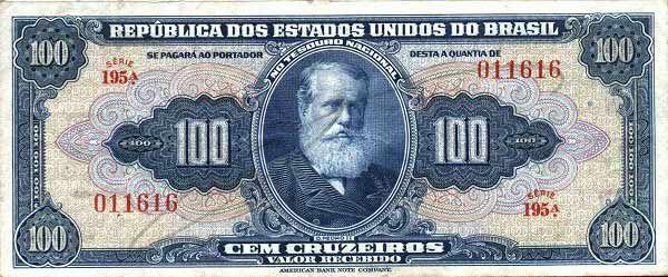 100 Крузейро (1943) Бразилия (Brazil) Южная Америка