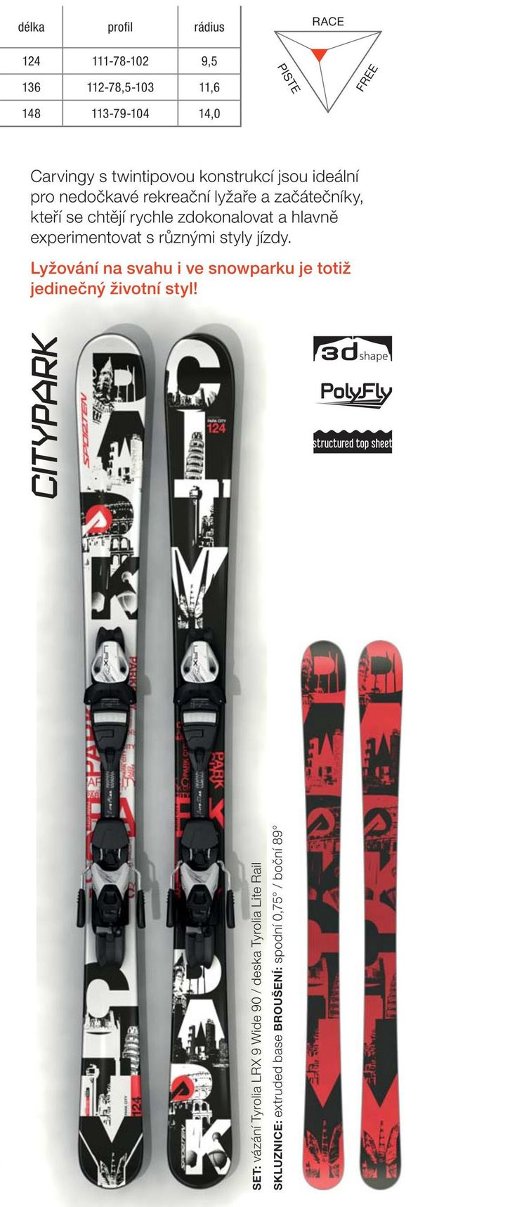 Sporten collection 2015/16 - twisted junior skis