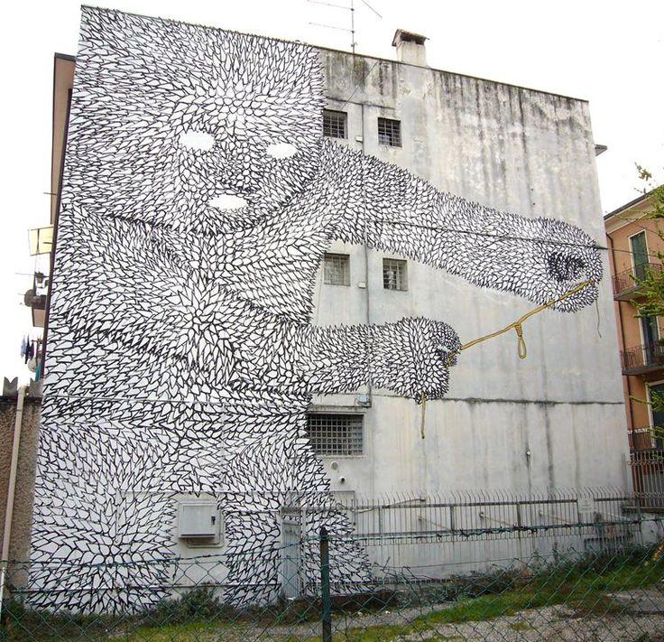 by Blu Blu #StreetArt #UrbanArt #Blu