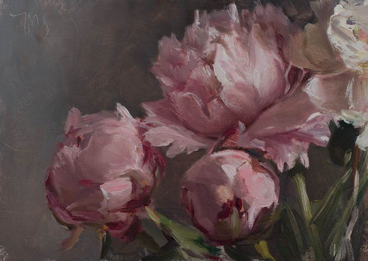"""Peonies"" a daily painting by Julian Merrow-Smith"