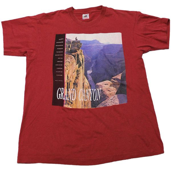 Vintage 90s Grand Canyon Shirt Made in USA Mens Size Large ($25) ❤ liked on Polyvore featuring men's fashion, men's clothing, men's shirts, men's t-shirts, tops, t-shirts and shirts