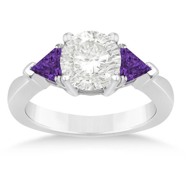 25  best ideas about Purple engagement rings on Pinterest | Purple stone rings, Purple wedding rings and Rose diamond rings