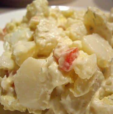 Amish Potato Salad   Ingredients 6 cups potatoes, firm-cooked 6 hard-boiled eggs 1/2 cup onion, chopped fined 1 cup celery, chopped fine 1/2 cup salad dressing 1 cup sugar 3 tablespoons prepared mustard 2 tablespoons vinegar 1 tablespoon salt 1/4 cup milk Instructions Chop potatoes, eggs, onion and celery finely. Place in bowl. Combine dressing ingredients in another bowl. Mix well. Pour in parts and mix with potato mixture until desired wetness.