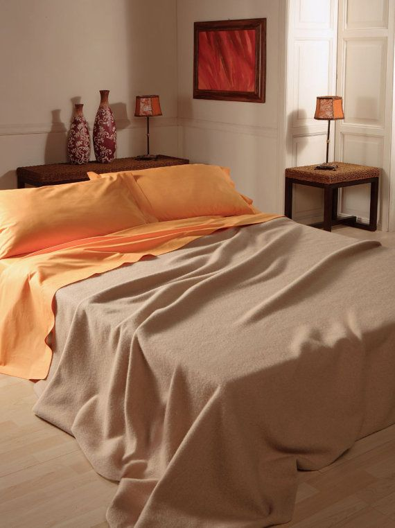 queen size blanket pure baby camel for spring enrico made in italy free shipment - King Size Blanket