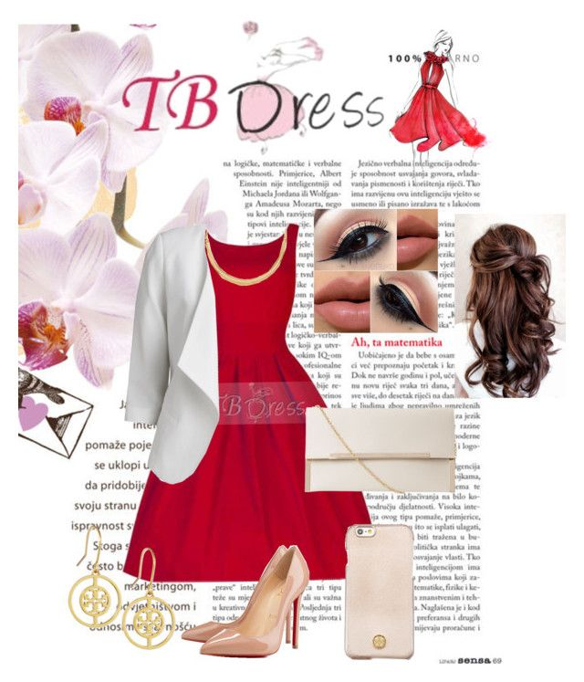 """""""TB Dress- Lovely Red Dress"""" by rnr210209 on Polyvore"""