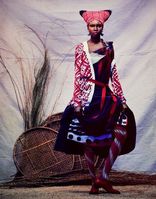 : Andrew Yee, Alexander Mcqueen, Style, Mixed Prints, Magazines, High Fashion, Fashion Editorial, Alek Wek, Africans Fashion
