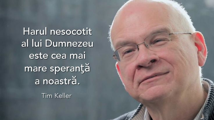 A quote by Tim Keller on reckless grace being our greatest hope in Romanian.