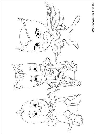Dibujos De Heroes En Piyamas