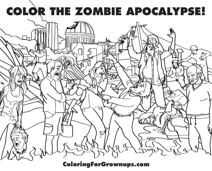 zombie colouring in sheet 401 best images about print outs activities on pinterest - Zombie Coloring Book