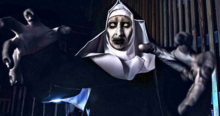 Conjuring Nun Valak Scares San Diego on First Night of Comic-Con -- New Line Cinema showed off first look footage from the Conjuring 2 spin-off The Nun which sent some Comic-Con attendees into hiding. -- http://movieweb.com/the-nun-movie-teaser-details-comic-con-sdcc/