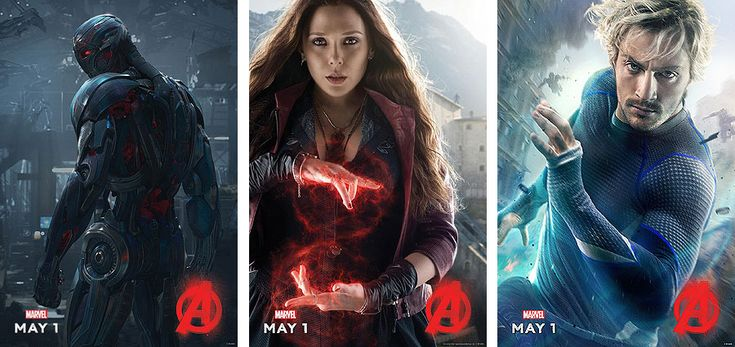 scarlet witch avengers 2 | Ultron, Scarlet Witch and Quicksilver Character Posters for Avengers ...