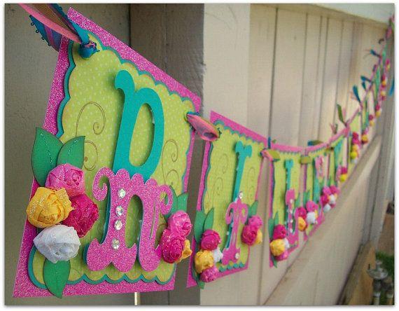 Handmade Banner  Custom made  GO GREEN  Name Banner by nadyasworld, $40.00