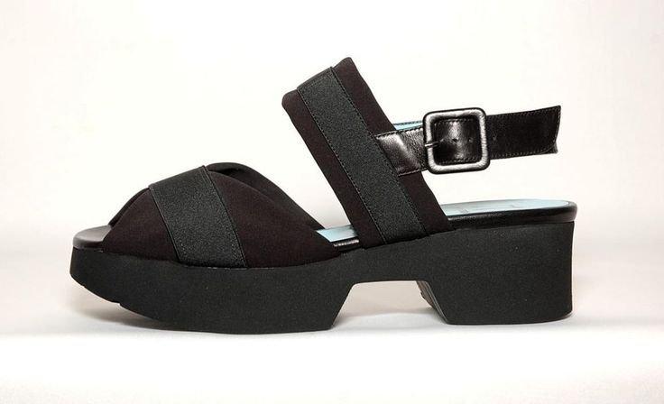 "**SOLD** New!! ~THIERRY RABOTIN~ #2905 ""Brady"" Black Platform Sandals Retail $385, 38/8 #ThierryRabotin #PlatformsWedges"