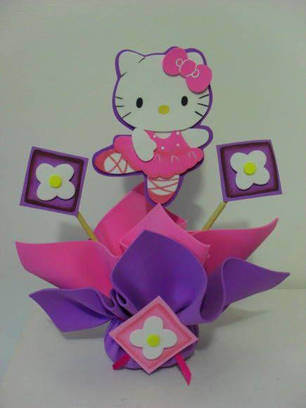 Centros de mesa Hello Kitty bailarina - Imagui   CENTRO DE MESA ...