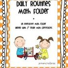 help reinforce the Daily Routines for Math Expressions. While it is geared towards first grade, it could easily be used ...