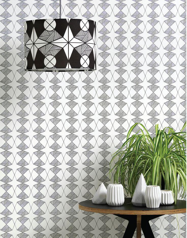 Etoile Contemporary geometric wallpaper, Geometric