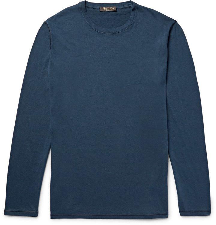 Loro Piana Cotton and Cashmere-Blend Jersey T-Shirt