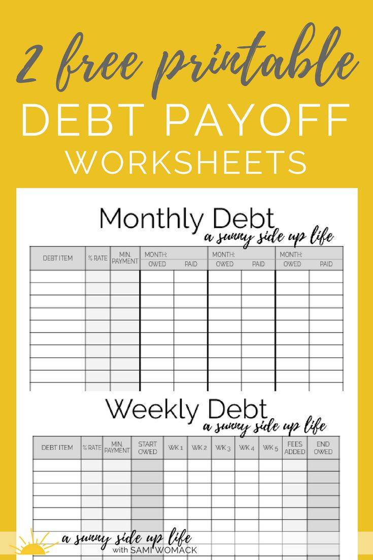 Worksheets Debt Payoff Worksheet best 25 debt payoff ideas on pinterest dave ramsey awesome article how to stop hiding from your 2 quick steps 2