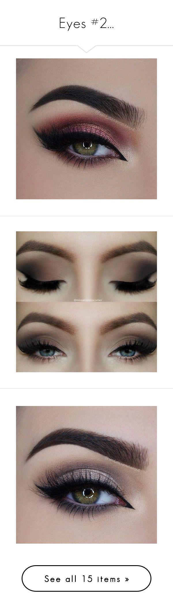 """Eyes #2..."" by lola0413 ❤ liked on Polyvore featuring beauty products, makeup, eyes, eye makeup, beauty, false eyelashes, eyeshadow, eye shadow, cosmetics and backgrounds"