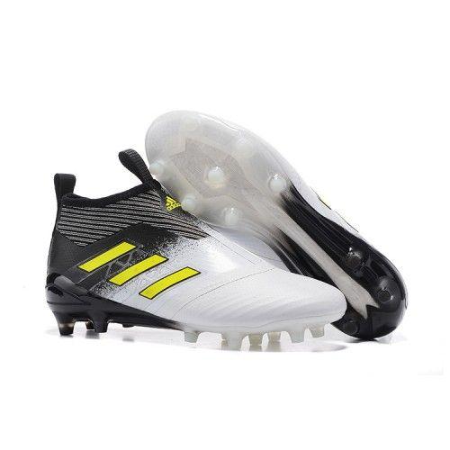2017 Adidas ACE 17+ PureControl FG Botas De Futbol Blanco Fluo Negro