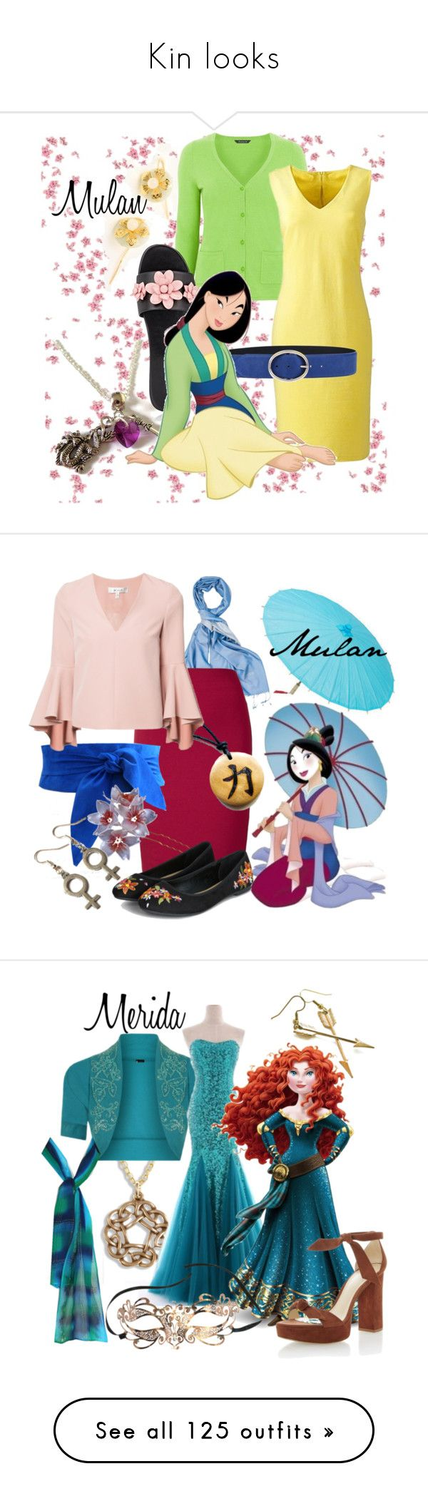 """""""Kin looks"""" by apocalypticcyberpunk ❤ liked on Polyvore featuring Orciani, Prada, Disney, disney, disneybound, Winser London, Milly, MoMo, Merida and Masquerade"""