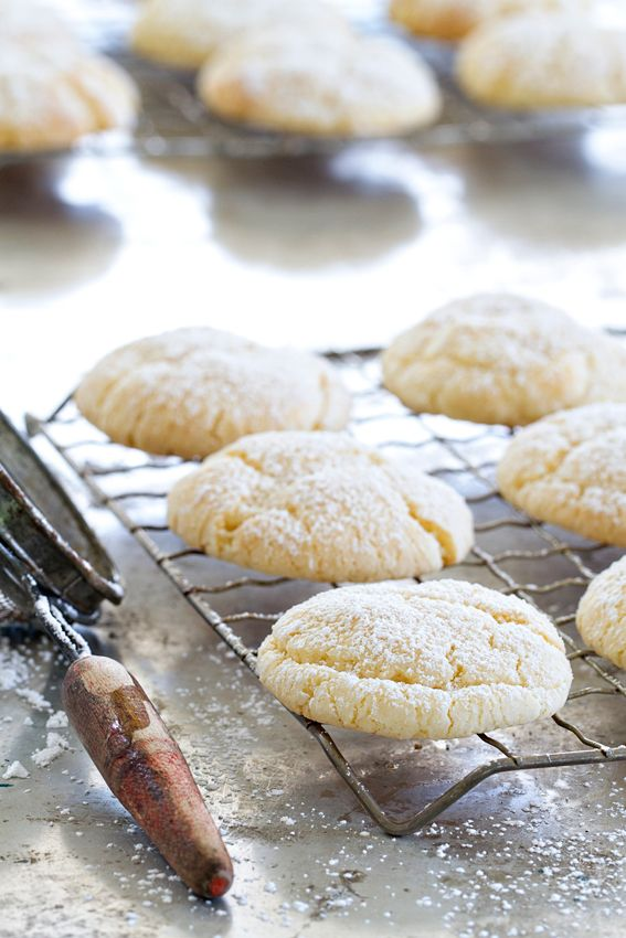 Gooey Butter Cookies start with a yellow cake mix. Combined with cream cheese…