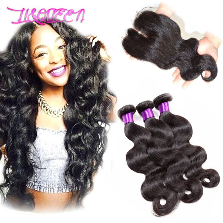 Aliexpress.com : Buy queen hair products brazilian virgin hair 3 bundles with closure Unprocessed virgin brazilian hair weave with lace closure from Reliable hair designs long hair suppliers on Li&Queen  | Alibaba Group