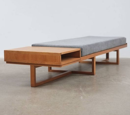 Anonymous; Oak Bench, 1960s.