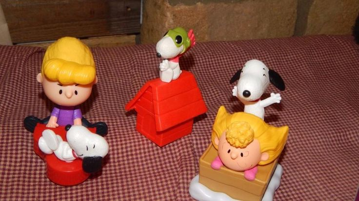 McDonald's Toy The PEANUTS Movie 2015 Schroeder, Sally & Snoopy Figure Lot GUC #McDonalds