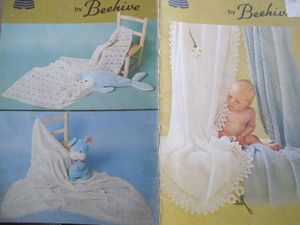 See Sally Sew-Patterns For Less - Baby Shawls by Beehive Knit