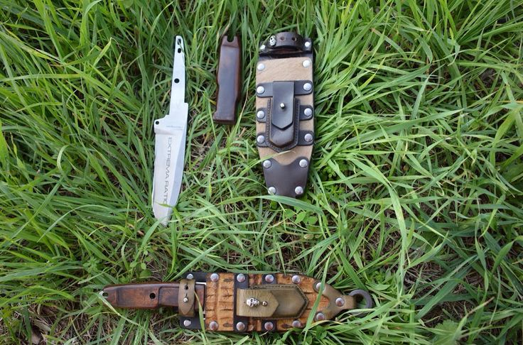 #dobermanIV blade by @extrema_ratio_s.a.s + handmade leather scale by #bladearmour + handmade #bladearmour sheath customized with horse hide cover or crocodile and small pouch = your best choice for your #hunting and #bushcrafting activity