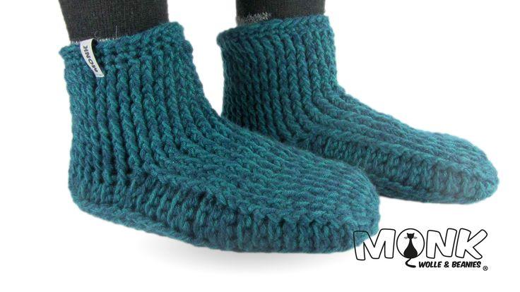 Socken & Hüttenschuhe häkeln – MONK Wolle & Bean…